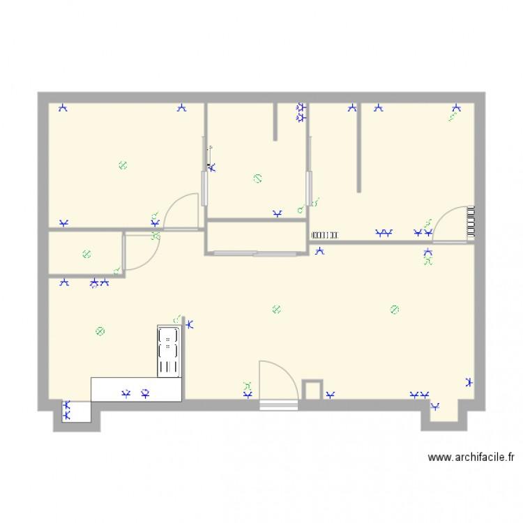 appart lavalle plan 7 pi ces 67 m2 dessin par jeromecoulon. Black Bedroom Furniture Sets. Home Design Ideas