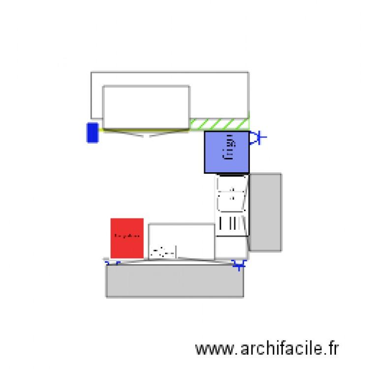 Cuisine plan dessin par azerty1 - Construire un plan de travail ...