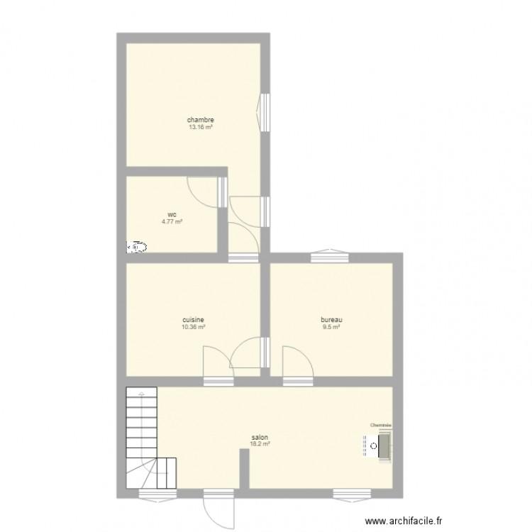 Maison Projet D Agrandissement Plan 5 Pi Ces 56 M2