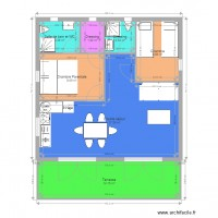 Plan 2 chambres 2 SDE GreenCottages 50m2