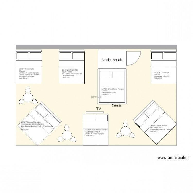 foire de paris 2018 plan 1 pi ce 60 m2 dessin par. Black Bedroom Furniture Sets. Home Design Ideas
