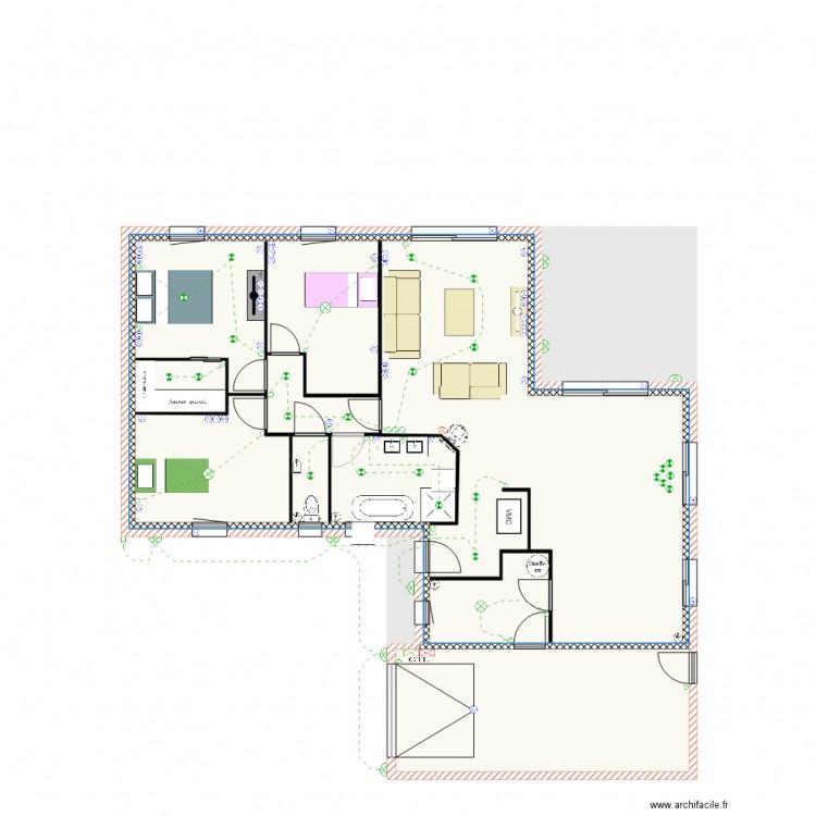 plan electrique plan 4 pi ces 153 m2 dessin par maxb79. Black Bedroom Furniture Sets. Home Design Ideas
