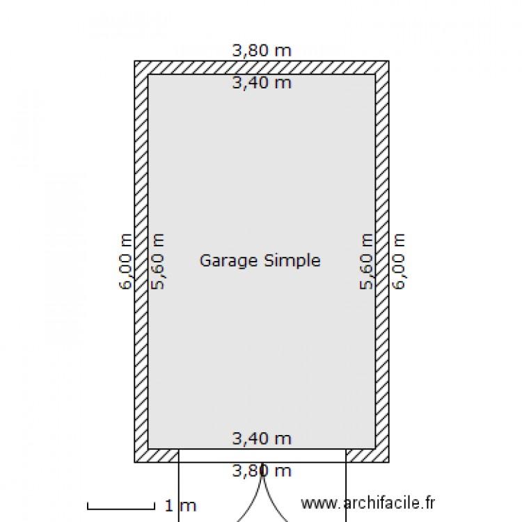 garage simple m plan 1 pi ce 19 m2 dessin par cafn. Black Bedroom Furniture Sets. Home Design Ideas