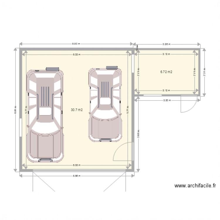 Garage Non Attenant Plan 2 Pièces 37 M2 Dessiné Par Yahul