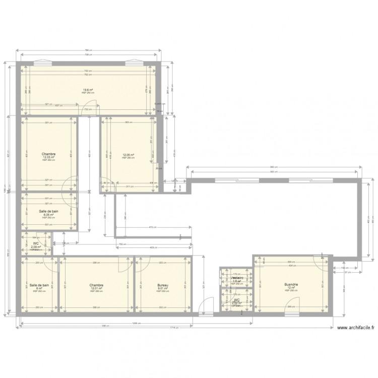 Plan De Masse Projet 3 Plan 11 Pi Ces 95 M2 Dessin Par