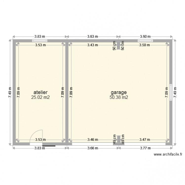 Célèbre garage voiture 4 - Plan 2 pièces 75 m2 dessiné par berez UT88