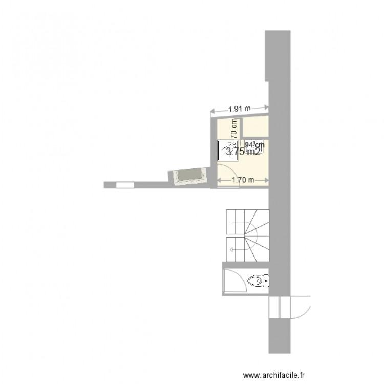 Salle de bain plan 1 pi ce 4 m2 dessin par stiil k3viin for Salle de bain 4 m2