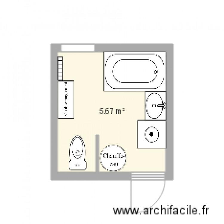 Salle De Bain Plan 1 Pi Ce 6 M2 Dessin Par Lisab
