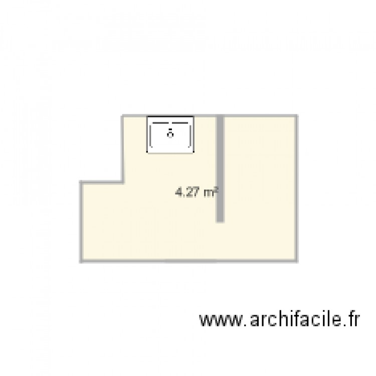 Salle de bain plan 1 pi ce 4 m2 dessin par lolo2110 for Salle de bain 4 m2