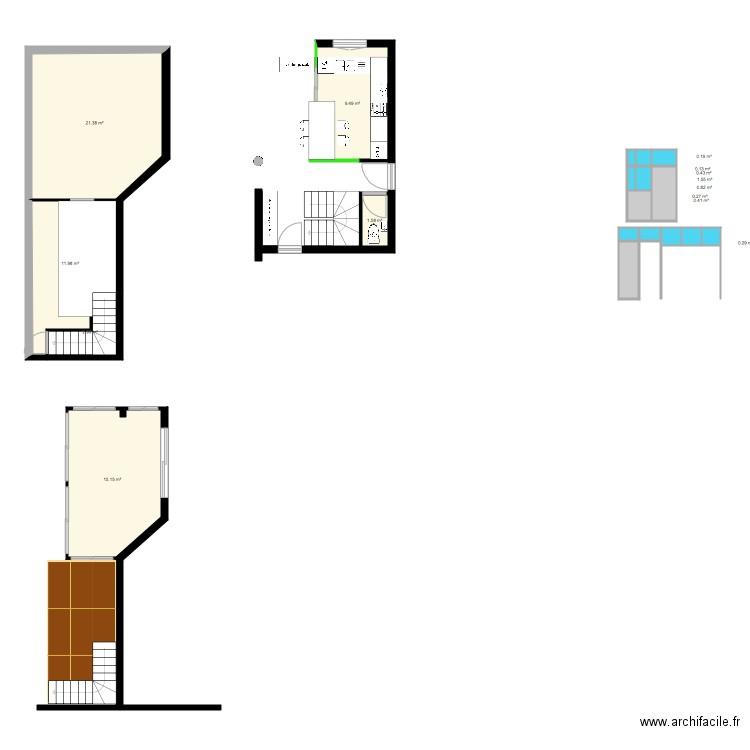 maison rez de chauss e plan 4 pi ces 55 m2 dessin par helyria. Black Bedroom Furniture Sets. Home Design Ideas