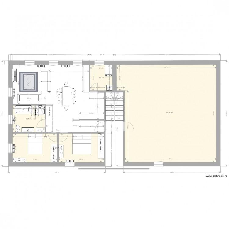 Agrandissement platanes plan 4 pi ces 122 m2 dessin par for Garage des platanes