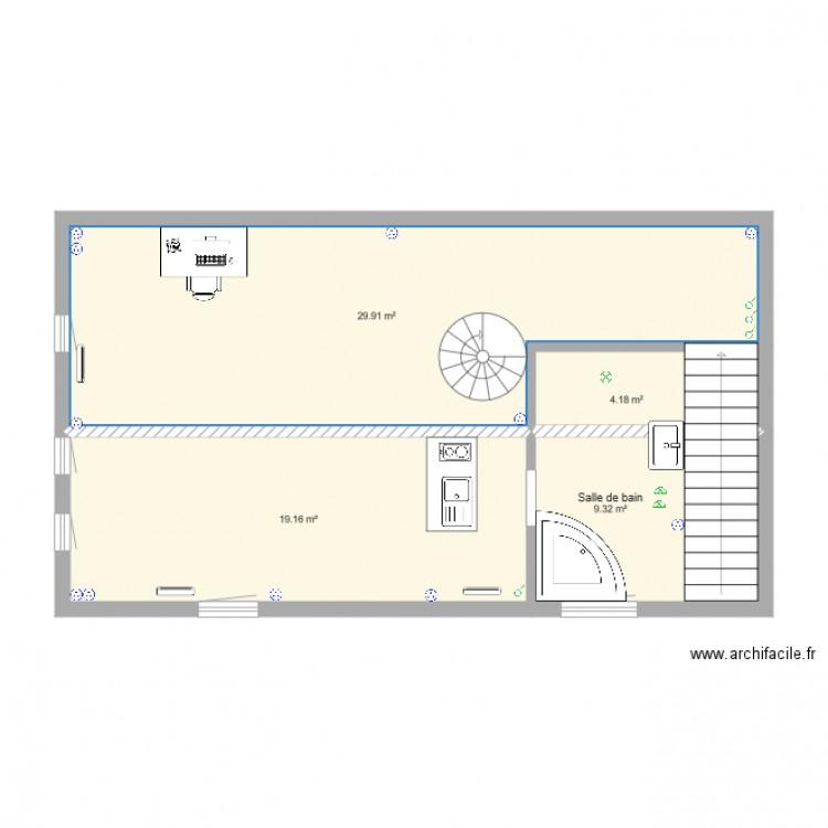 plan lectrique plan 4 pi ces 63 m2 dessin par vagabounda. Black Bedroom Furniture Sets. Home Design Ideas