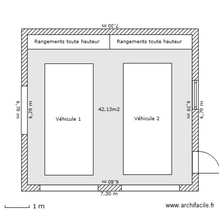 garage double plan 1 pi ce 42 m2 dessin par aphabitat