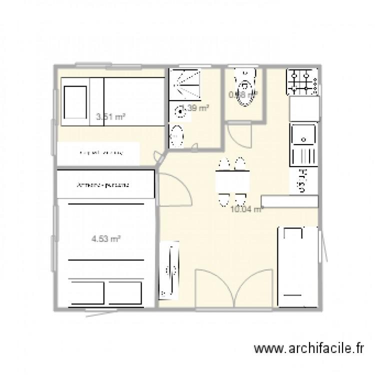 mobil home 20m2 n26 plan 5 pi ces 20 m2 dessin par marie972. Black Bedroom Furniture Sets. Home Design Ideas