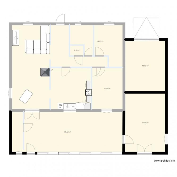 Plan de ma maison plan 7 pi ces 159 m2 dessin par tony for Plan de ma maison