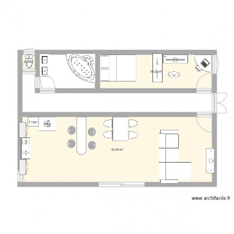 archifacile plan 3 pi ces 44 m2 dessin par love iden
