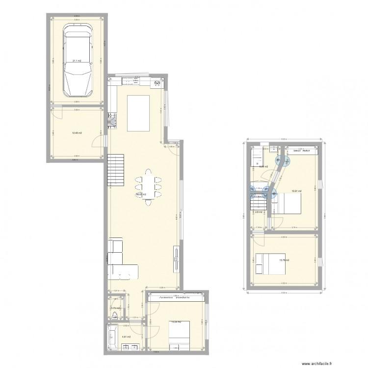 Plan plan 10 pi ces 162 m2 dessin par btestaniere for 162 plan