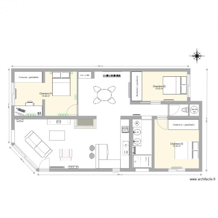 maison l ognan plan lectricit prise chambre 01 plan 3. Black Bedroom Furniture Sets. Home Design Ideas