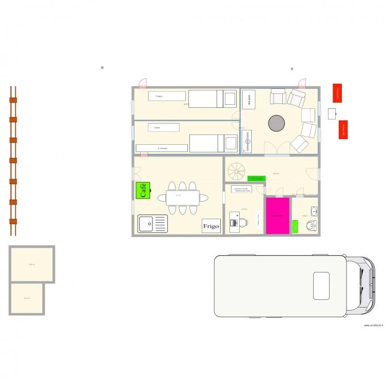 Nouvelle disposition locale plan 9 pi ces 314 m2 dessin for Nouvelles dispositions de maison