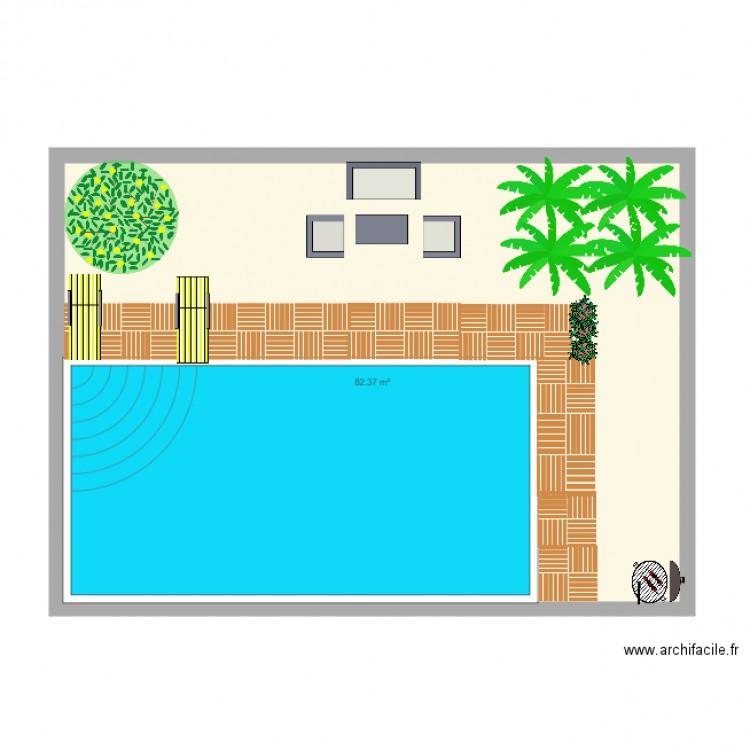 Jardin de mes reves plan 1 pi ce 82 m2 dessin par ioiodu31 for Dessine mes plans de maison