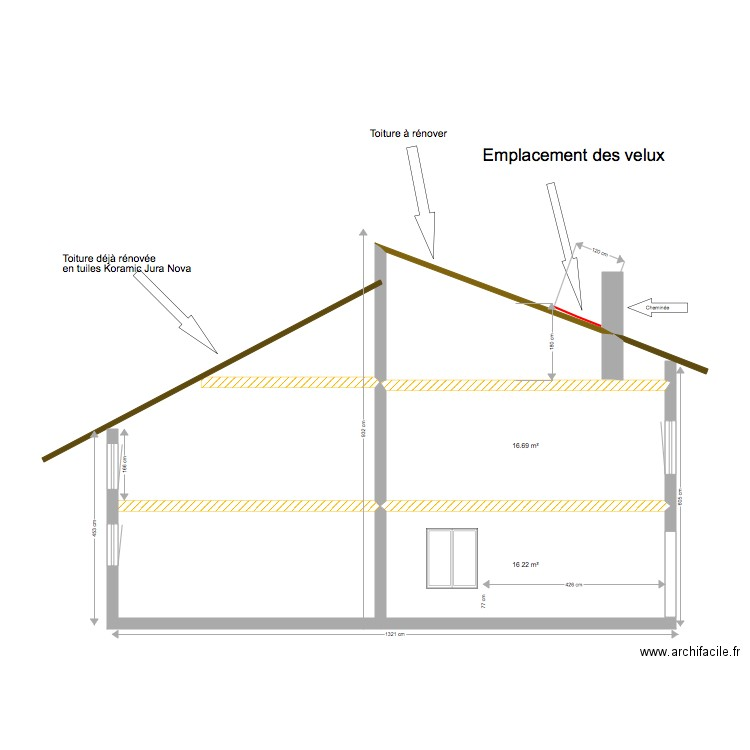 Plan Coupe Maison: Plan 2 Pièces 33 M2 Dessiné Par Gilles7101