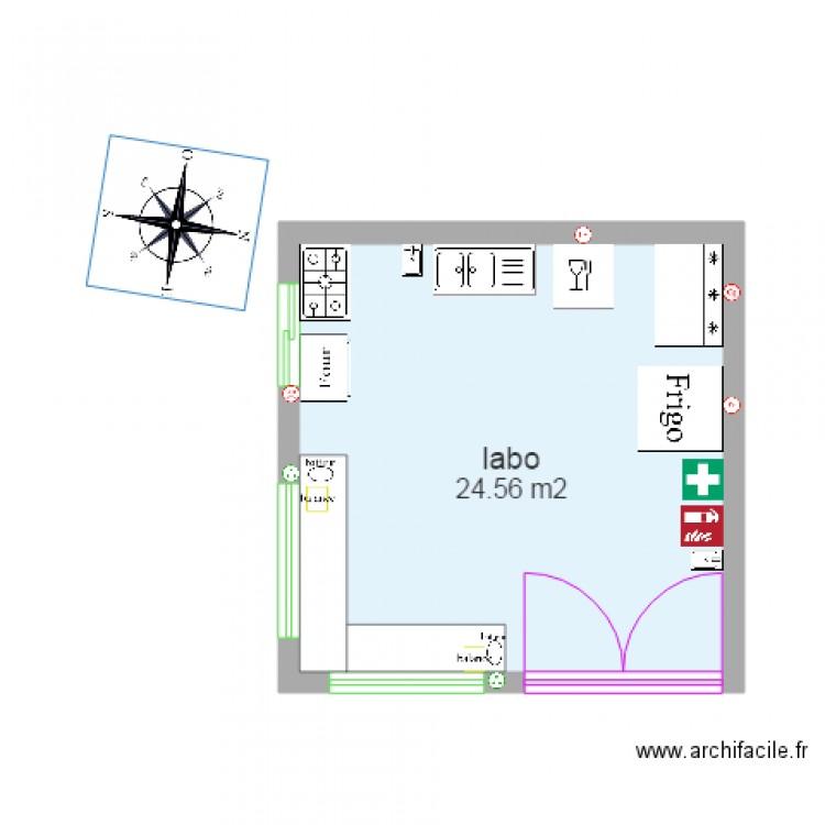 garage labo plan 1 pi ce 25 m2 dessin par garage labo. Black Bedroom Furniture Sets. Home Design Ideas