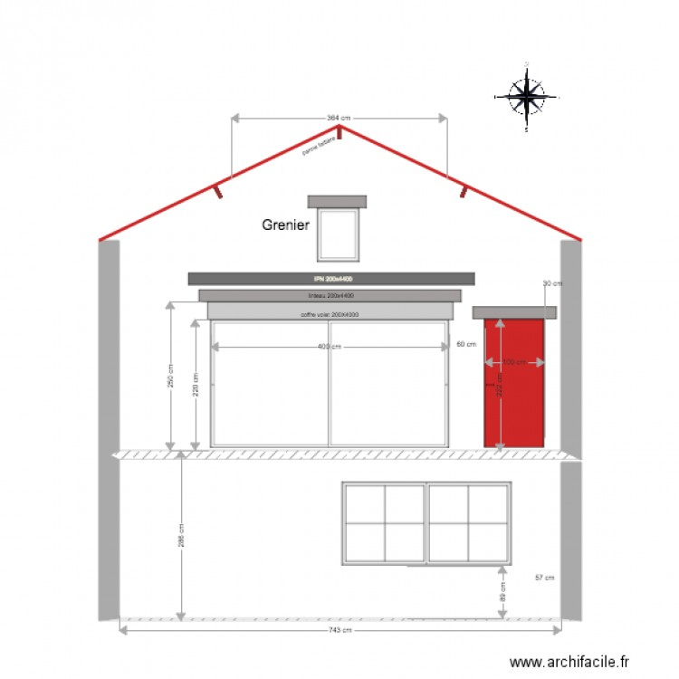 fa ade arri re construction baie vitr tableau plan dessin par ritzjp. Black Bedroom Furniture Sets. Home Design Ideas