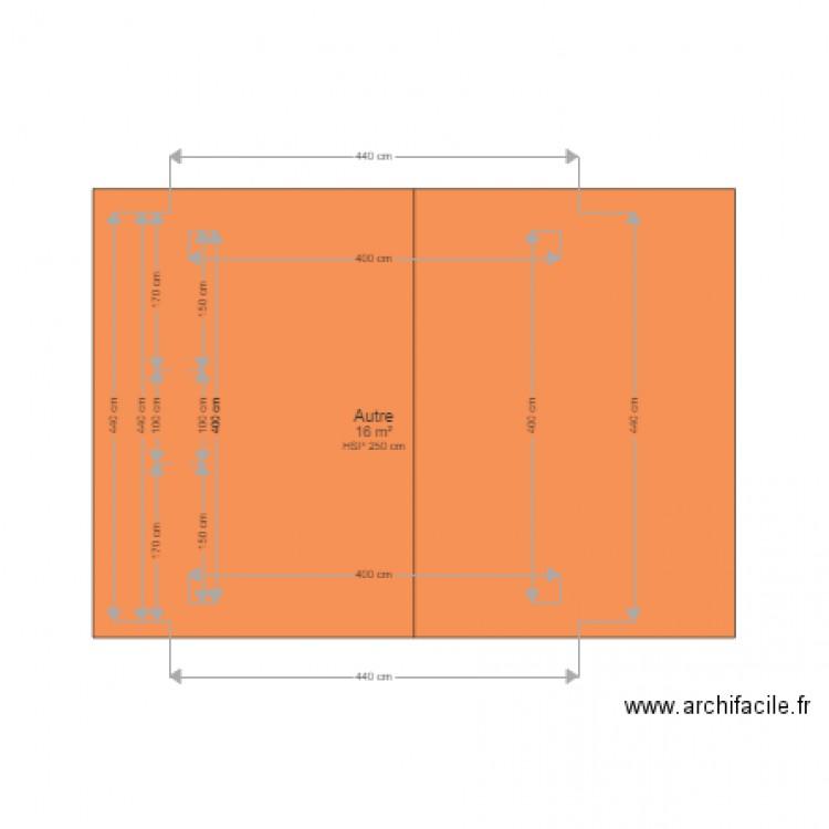 Abri de jardin plan 1 pi ce 16 m2 dessin par philoup57 - Abri jardin grande taille ...