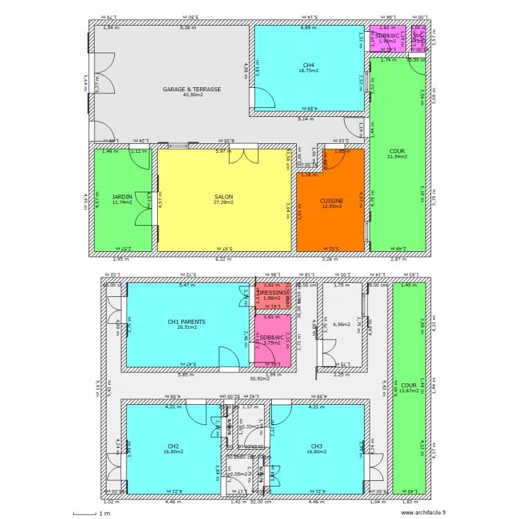 Maison id ale f5 plan 20 pi ces 254 m2 dessin par papisbo - Maison ideale ...