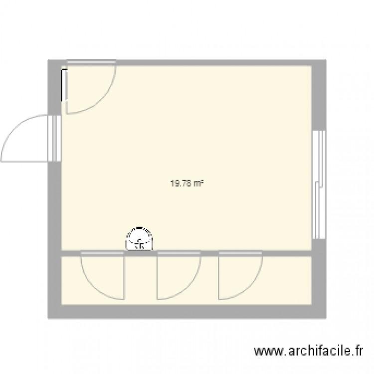 Bureau 3 plan 1 pi ce 20 m2 dessin par francklesueur for Bureau petite taille