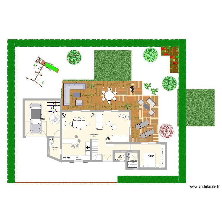 plan maison 2 plan 14 pi ces 173 m2 dessin par hdemeu. Black Bedroom Furniture Sets. Home Design Ideas