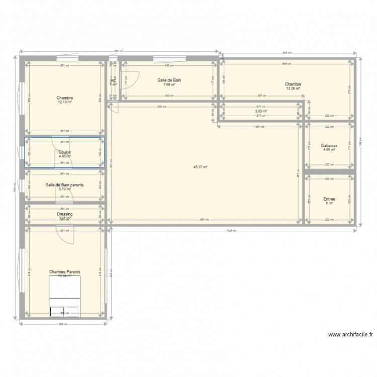 Fab plan 12 pi ces 120 m2 dessin par babo43 - Plan appartement 120 m2 ...
