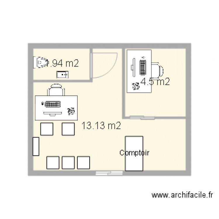 a2c eurolines plan 3 pi ces 20 m2 dessin par eurolines. Black Bedroom Furniture Sets. Home Design Ideas