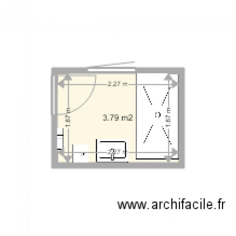 Salle de bain rdc plan 1 pi ce 4 m2 dessin par ducat18 for Salle de bain 4 m2