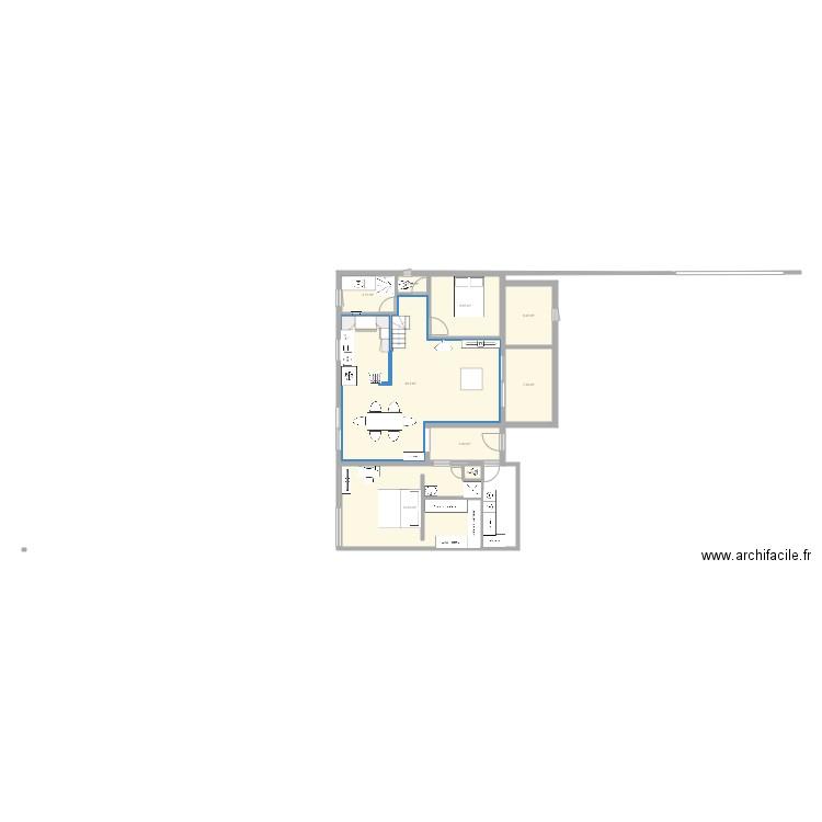 Plan de maison avec agrandissement plan 8 pi ces 197 m2 for Agrandissement maison plan