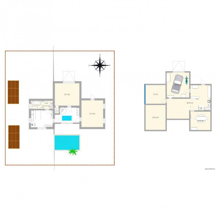plan maison a calculer plan 8 pi ces 169 m2 dessin par pribied. Black Bedroom Furniture Sets. Home Design Ideas