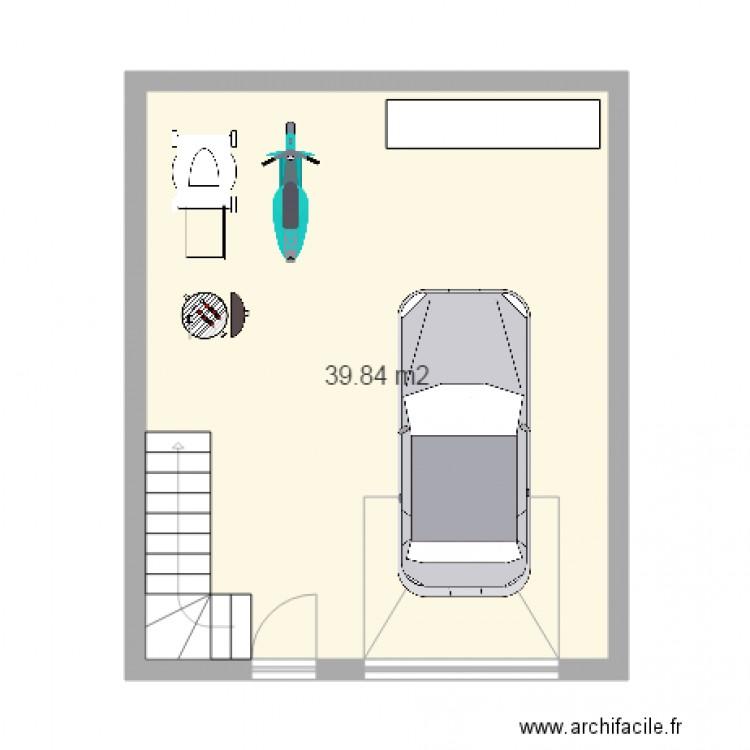 garage plan 1 pi ce 40 m2 dessin par rafik28300. Black Bedroom Furniture Sets. Home Design Ideas
