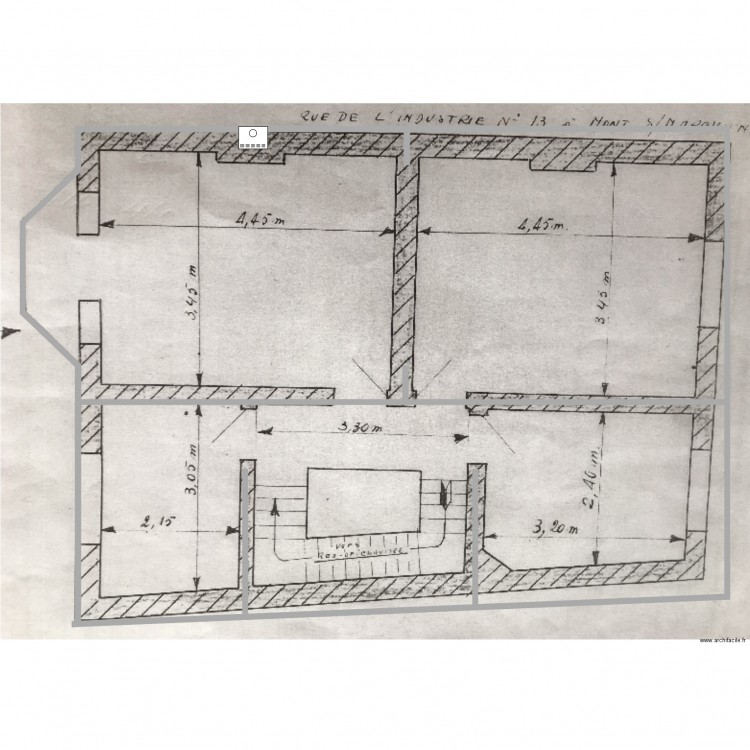 Maison Rdc Plan 2 Pi Ces 599 M2 Dessin Par Srokaf