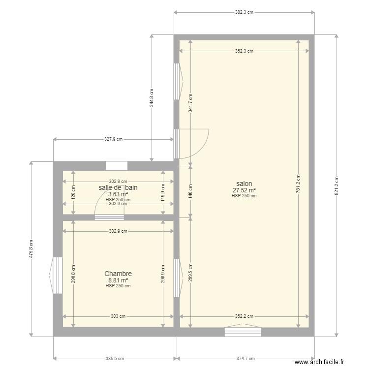 Extension Studio 02 Plan 3 Pieces 40 M2 Dessine Par Toto4