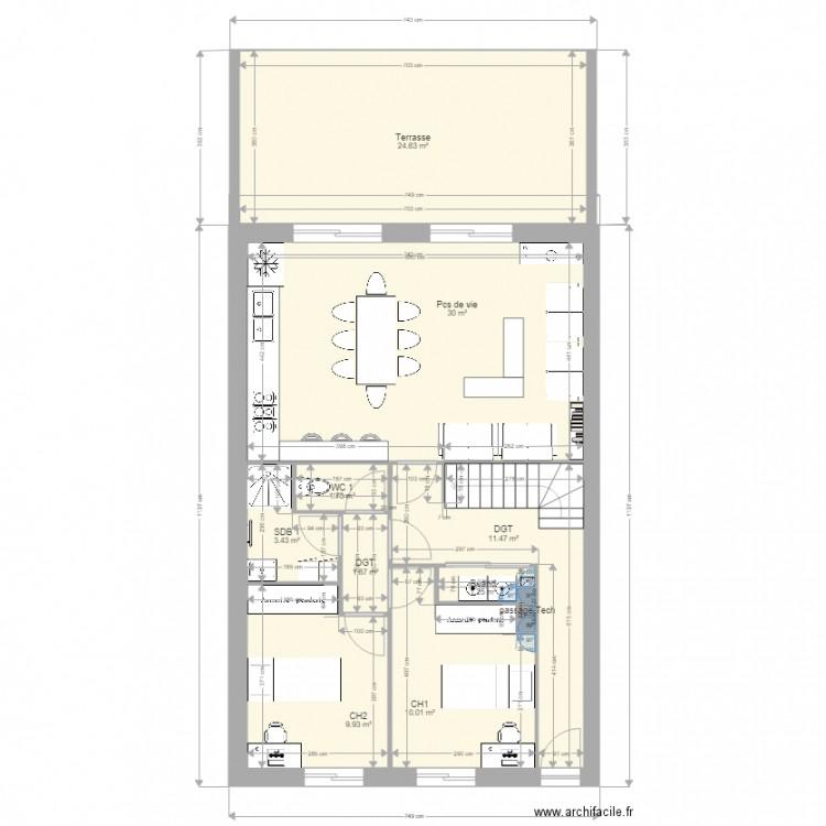 Smh study test 3 plan 19 pi ces 164 m2 dessin par gio81 for Cabine douche study