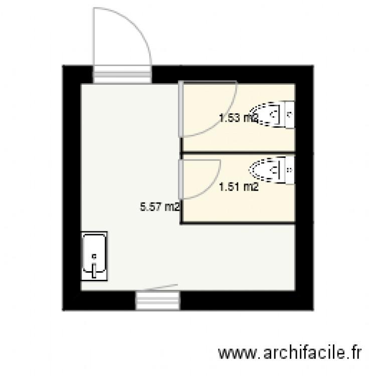 Wc Resto Plan 3 Pi Ces 9 M2 Dessin Par Sophie116