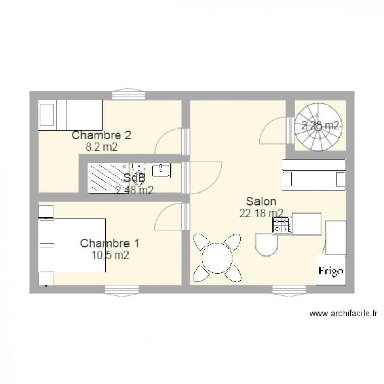 plan appartement 46 m2
