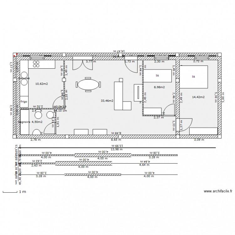Maison 2 portugal plan 5 pi ces 72 m2 dessin par for Plan de maison 5 pieces