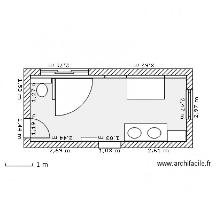 Salle de bain fast v9 plan 1 pi ce 14 m2 dessin par fastor for Salle de bain fust