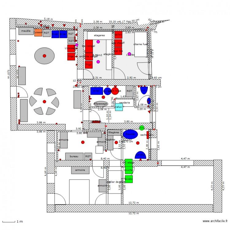 lingerie cuisine cellier salle d 39 eau plan 2 pi ces 20 m2 dessin par bergeron6. Black Bedroom Furniture Sets. Home Design Ideas