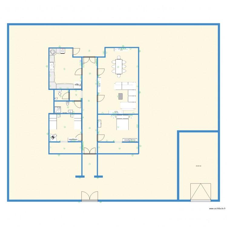 plan electrique plan 5 pi ces 613 m2 dessin par souie. Black Bedroom Furniture Sets. Home Design Ideas