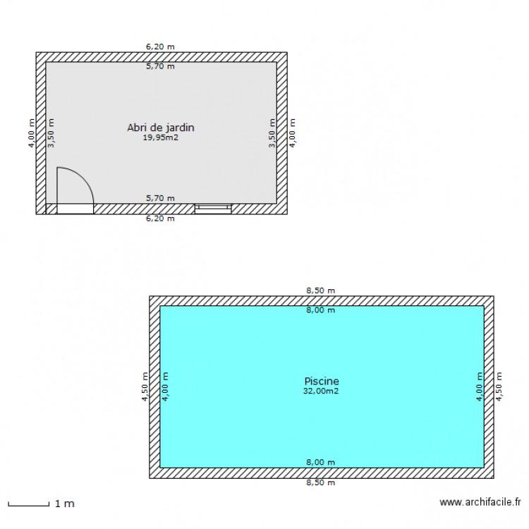 Plan masse piscine abri plan 2 pi ces 52 m2 dessin par lamie81 - Plan de masse et plan de situation ...