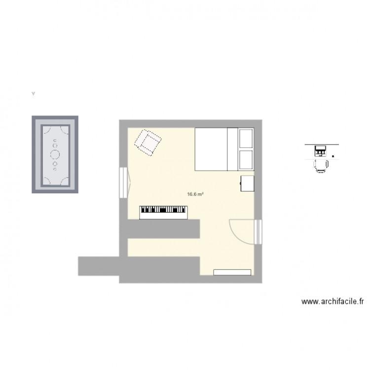 bureau amis musique version 2018 v 1 plan 1 pi ce 17 m2 dessin par cmcsi. Black Bedroom Furniture Sets. Home Design Ideas
