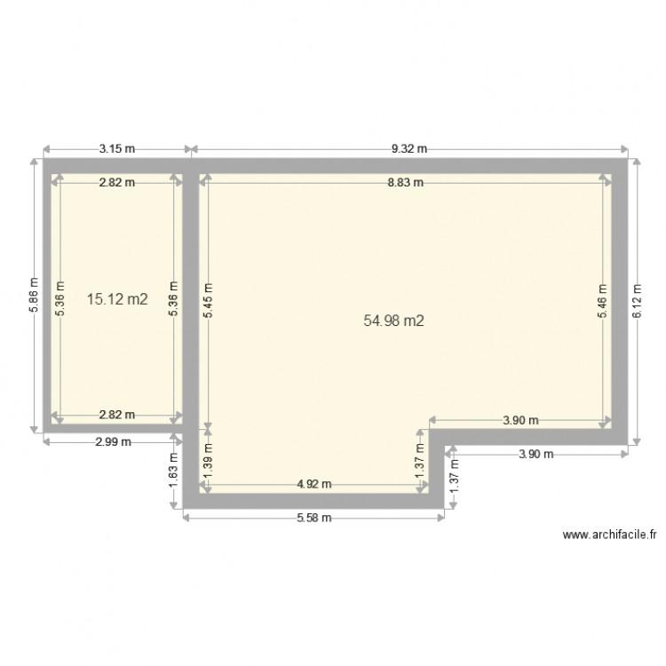 Petite Maison Design Garage Gauche. Plan De 2 Pièces Et 70 M2