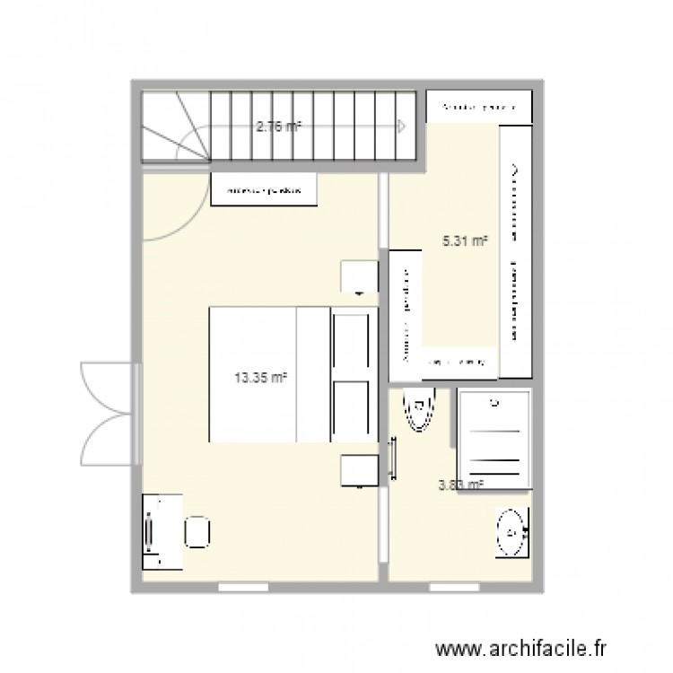 Plan Chambre Parentale 2 Plan 4 Pièces 25 M2 Dessiné Par